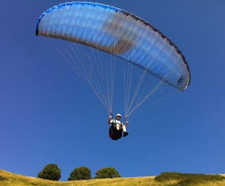 first solo Paragliding flight