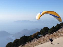 paraglider fly on holiday in spain.