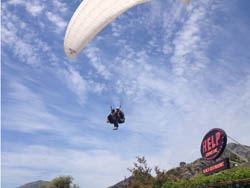 Paragliding by the Mediterranean