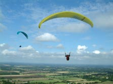 Paragliders flying near london